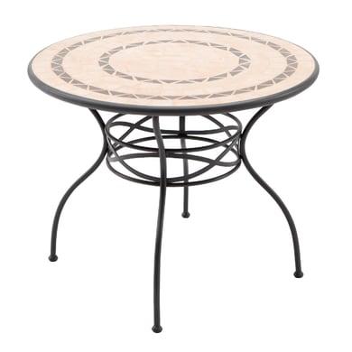 Tavolo da pranzo per giardino rotondo New Gijon NATERIAL con piano in ceramica Ø 95 cm