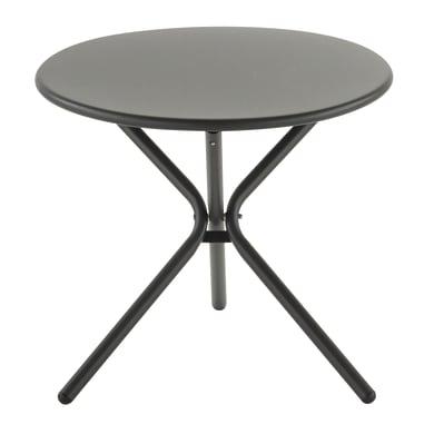 Tavolino da giardino rotondo Tris con piano in alluminio Ø 55 cm