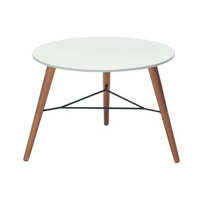 Tavolino da giardino rotondo Chamonix in legno