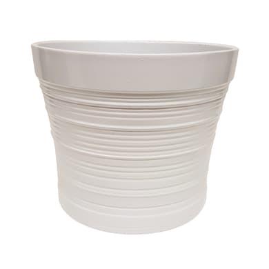 Portavaso Rolling ALMAS S.A. in ceramica colore bianco H 12.5 cm, Ø 15 cm