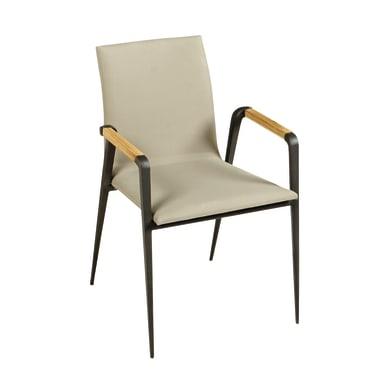 Sedia in alluminio Cosmo NATERIAL colore nero e grigio