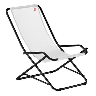 Sedia a sdraio pieghevole Swing in alluminio antracite