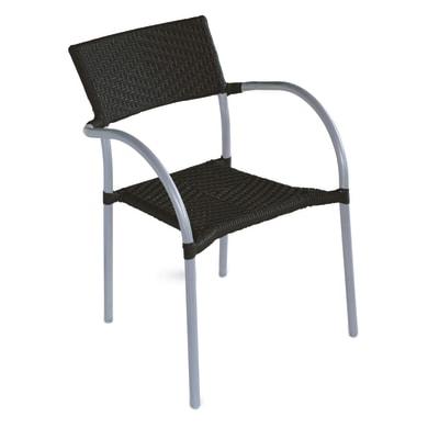 Sedia in alluminio CC 21N colore nero