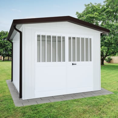 Garage in acciaio al carbonio Newport SAPIL 14.37 m², Sp 40 mm