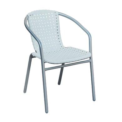 Sedia in ferro Rodi colore bianco