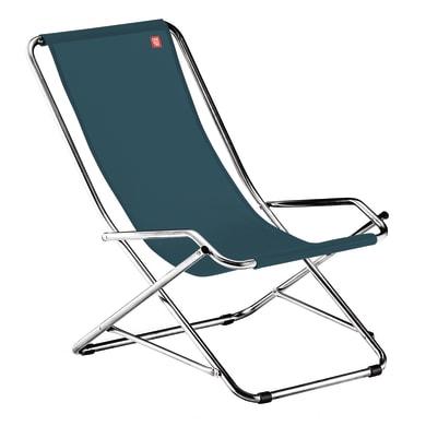 Sedia a sdraio pieghevole Swing in acciaio verde