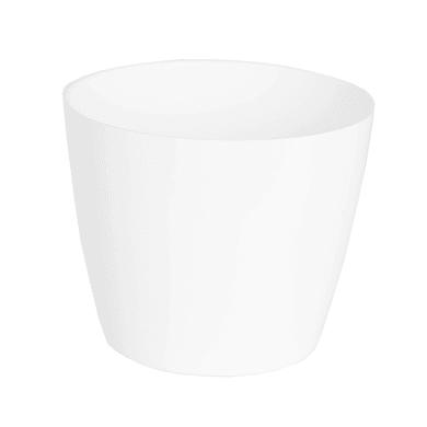 Vaso Sanremo ARTEVASI in polipropilene colore bianco H 9.6 cm, Ø 11 cm