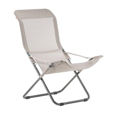 Sedia a sdraio pieghevole Comfort in acciaio grigio antracite