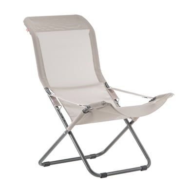 Sedia a sdraio pieghevole Comfort in alluminio grigio antracite