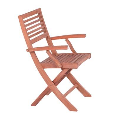 Sedia da giardino senza cuscino Atrium colore marrone
