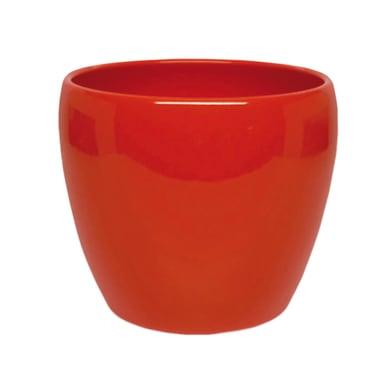 Vaso Summer in ceramica colore arancione H 9 cm, Ø 11 cm