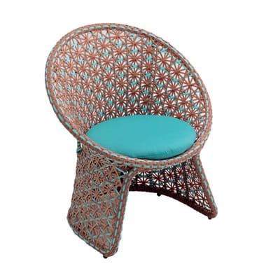 Sedia da giardino con cuscino  in alluminio Provence NATERIAL colore legno