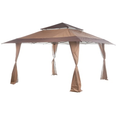Gazebo da ricevimento in metallo Quick up tortora 400 cm x 2.92 m x 400 cm
