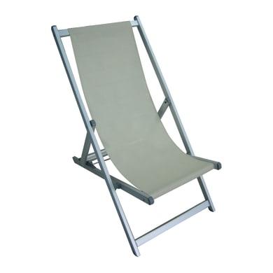Sdraio pieghevole in alluminio Mare colore grigio/ecrù