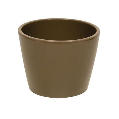 Portavaso Stella in ceramica colore tortora H 26.9 cm, Ø 32 cm