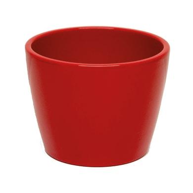Portavaso Stella in ceramica colore rosso H 22 cm, Ø 24 cm