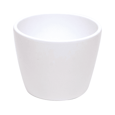 Portavaso Stella in ceramica colore bianco H 22 cm, Ø 24 cm