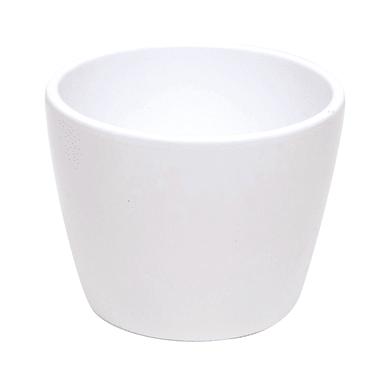 Portavaso Stella in ceramica colore bianco H 12.8 cm, Ø 15 cm