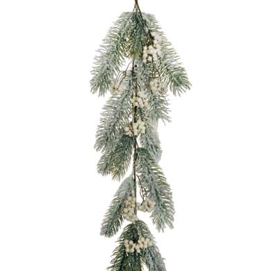 Ghirlanda natalizia ramo innevato bianco L 123 cm , Ø 25 cm