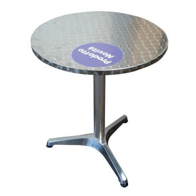 Tavolo da pranzo per giardino rotondo con piano in alluminio Ø 60 cm