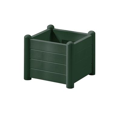 Fioriera Italia STEFANPLAST in polipropilene colore verde H 35 cm, L 43 x P 43 cm