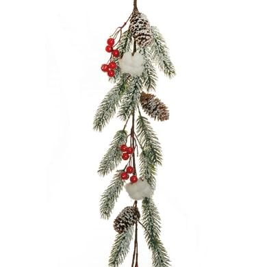 Ghirlanda natalizia rosso L 127 cm , Ø 25 cm