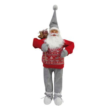 Babbo Natale in tessuto H 43 cm