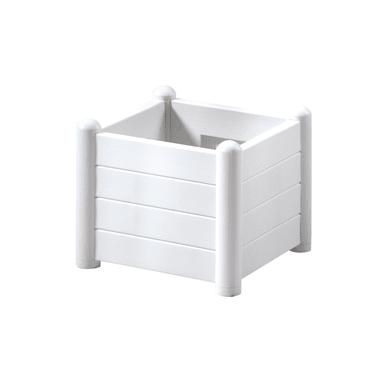 Fioriera Italia STEFANPLAST in polipropilene colore bianco H 35 cm, L 43 x P 43 cm