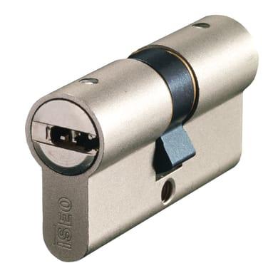Cilindro Europeo 60 mm, doppio profilo ISEO in acciaio nichelato