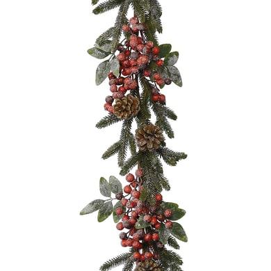 Ghirlanda natalizia verde e rosso L 176 cm , Ø 9 cm