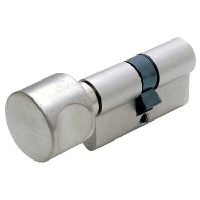 Cilindro Europeo 126 mm, doppio profilo in acciaio nichelato