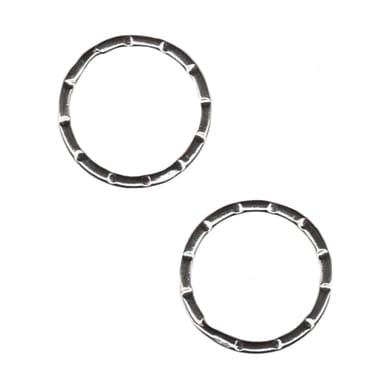 Anello in acciaio Ø 25 mm 2 pezzi