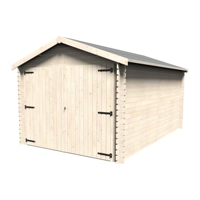 Garage in legno Gamache DECOR ET JARDIN 12.29 m², Sp 28 mm