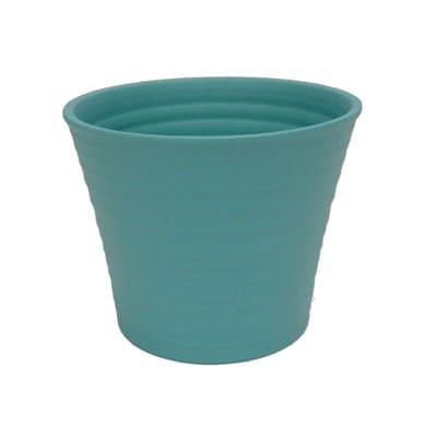Portavaso Ruca ALMAS S.A. in ceramica colore turchese H 22.5 cm, Ø 29 cm