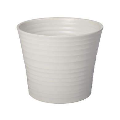 Portavaso Ruca ALMAS S.A. in ceramica colore bianco H 10 cm, Ø 12 cm