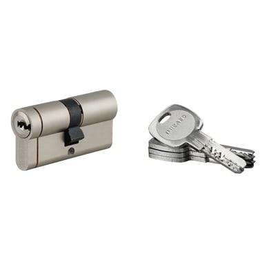 Cilindro Europeo 61 mm, doppio profilo in acciaio nichelato