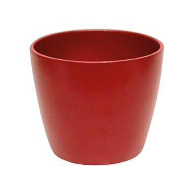 Vaso Spring ALMAS S.A. in ceramica colore rosso H 14 cm, Ø 17 cm