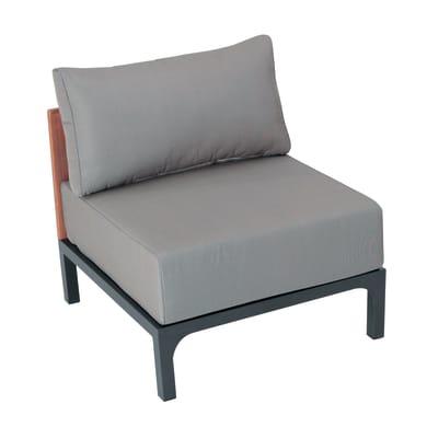 Poltrona da giardino con cuscino  in alluminio Peloponeso colore grigio