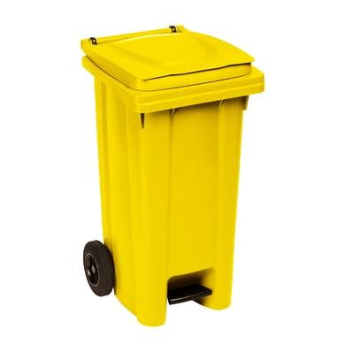 Bidone in plastica STEFANPLAST carrellato 120 L 2 ruote