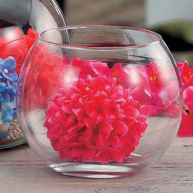 Vaso in vetro H 10 cm Ø 20 cm
