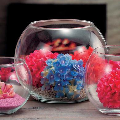 Vaso in vetro H 12 cm Ø 25 cm