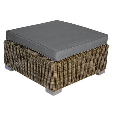 Tavolino da giardino quadrato Antigua con piano in rattan sintetico L 76 x P 76 cm