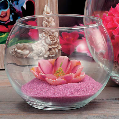 Vaso in vetro H 8 cm Ø 16 cm