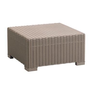 Tavolino da giardino quadrata California KETER con piano in resina L 68 x P 68 cm