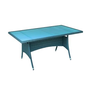 Tavolo da giardino rettangolare Cefalù con piano in vetro L 90 x P 160 cm
