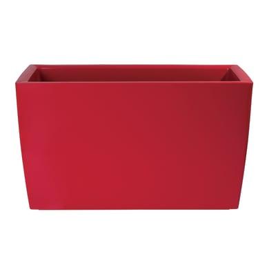 Cassetta portafiori Marbella ARTEVASI in polipropilene colore rosso H 45 cm, L 76 x P 30.5 cm