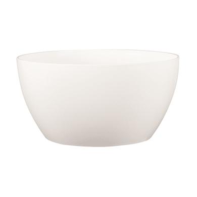 Ciotola Algarve ARTEVASI in polipropilene colore bianco H 11.5 cm, P 23 cm Ø 23 cm