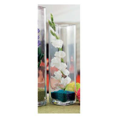Vaso in vetro L 12 x H 42 cm Ø 12 cm
