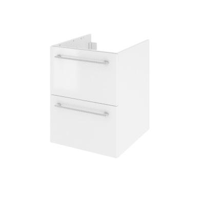 Mobile lavabo L 45 x P 48 x H 58 cm in agglomerato bianco
