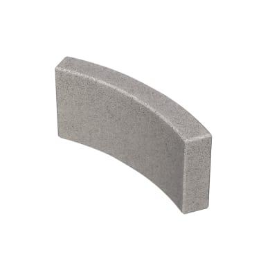Cordolo in calcestruzzo grigio Liscio L 52.5 x H 20 cm Sp 5 cm